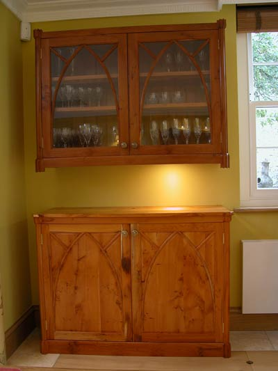 Peter Sings Yew Cabinets